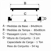 Tampão T 80x80cm Simples Em FF - FUNDIÇÃO VESUVIO