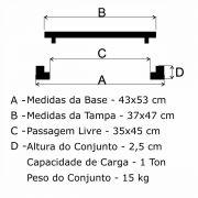 Tampão T 40x50cm Incêndio Articulado Em FF - FUNDIÇÃO VESUVIO