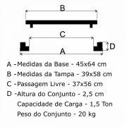 Tampão T 40x60cm Incêndio Articulado Em FF - FUNDIÇÃO VESUVIO