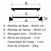 Tampão R-1 Telefone Articulado (38x62cm) Em FF - FUNDIÇÃO VESUVIO