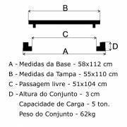 Tampão R-2 Telefone Articulado (55x110cm) Em FF - FUNDIÇÃO VESUVIO