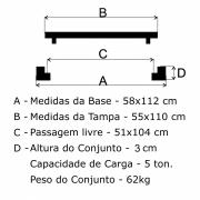 Tampão R-2 Telefone Simples (55x110cm) Em FF - FUNDIÇÃO VESUVIO
