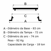 Tampão R-3 Telefone Articulado (83cm)  Em FF - FUNDIÇÃO VESUVIO