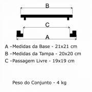 Tampão T-5 Articulado (20x20cm) Em FF - FUNDIÇÃO VESUVIO