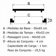 Tampão ZBP Articulado (45x53cm) Em FF - FUNDIÇÃO VESUVIO