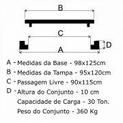 Tampão ZD Simples CEMIG (95x120cm) Em FF - FUNDIÇÃO VESUVIO
