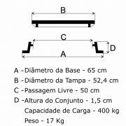 Tampão Bolacha Articulado (52,4cm) em FF - FUNDIÇÃO VESUVIO