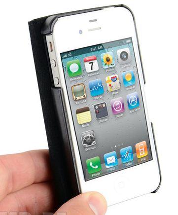 Capa Carteira IPhone 4 4s Couro Pu Apple Black Clip Imã Wall  - HARDFAST INFORMÁTICA