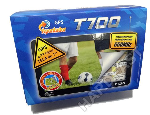 Gps Apontador T700 Tela 7.0 TV 128mb CPU 660 MHZ Frete Grátis  - HARDFAST INFORMÁTICA