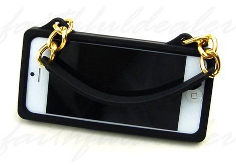 Capa Bolsa Iphone 5 5g com Alça Silicone Handbag Style Case  - HARDFAST INFORMÁTICA