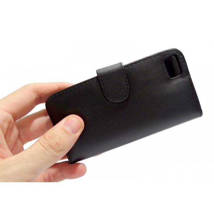Capa Carteira BlackBerry Z10 Couro Pu Cartões Black Celular  - HARDFAST INFORMÁTICA