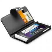 Capa Carteira BlackBerry Z10 Couro Pu Cartões Black Celular
