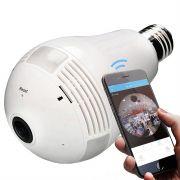 Câmera Ip Wifi Lâmpada e27 Áudio HD 360 Dia Noite Hardfast Hf01 Segurança