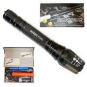 Lanterna Tática Led 16500W 2x Baterias Carregador Sinalizador