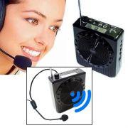 Megafone Amplificador Voz Microfone Professor Radio FM USB MP3 Fone Ouvido k150 Aula Palestra