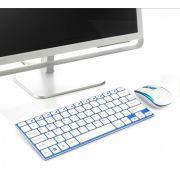 Teclado Mouse Sem Fio Wifi 2.4 Ghz Slim Ipad Tablet Galaxy Tab Usb super fino Elegante melhor material