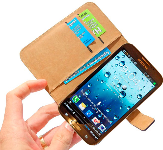 Capa Carteira Galaxy Note 3 Samsung n9000 n9002 n9005 Couro  - HARDFAST INFORMÁTICA