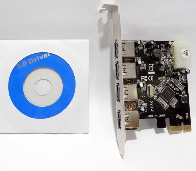 Placa Pci-e Express 1x 4 portas USB 3.0 2.0 5Gbps Windows 7  - HARDFAST INFORMÁTICA