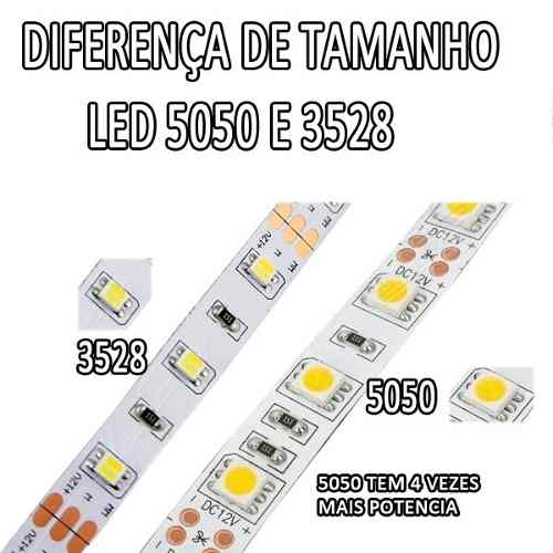 Fita Led RGB 5050 Controle Remoto Fonte Prova Agua Garantia Natal Pisca Sanca parede Gesso Piscina  - HARDFAST INFORMÁTICA