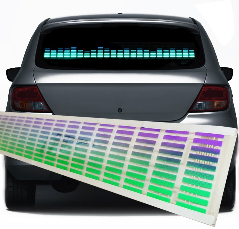 Painel Gráfico Sensor Led Equalizador Rítmico Carro mod 2016  - HARDFAST INFORMÁTICA