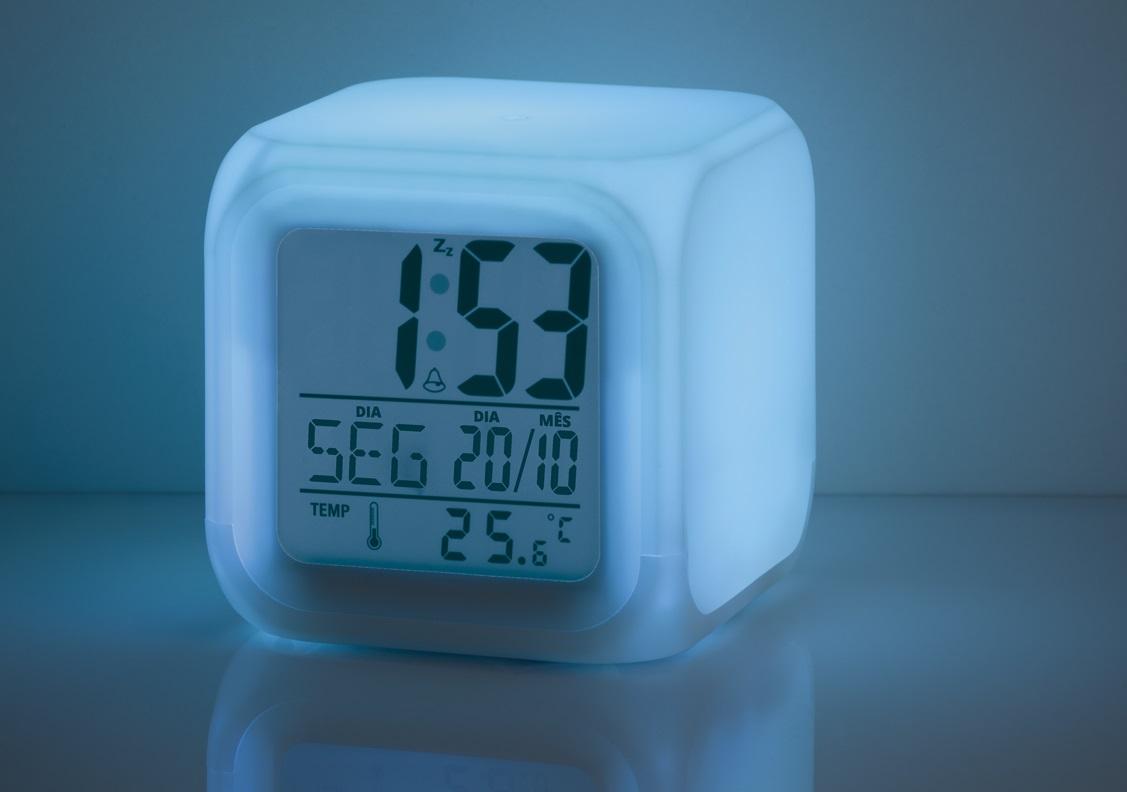Sensor Temperatura Do Ambiente Relogio Luz Emergência Alarme Calendario  - HARDFAST INFORMÁTICA