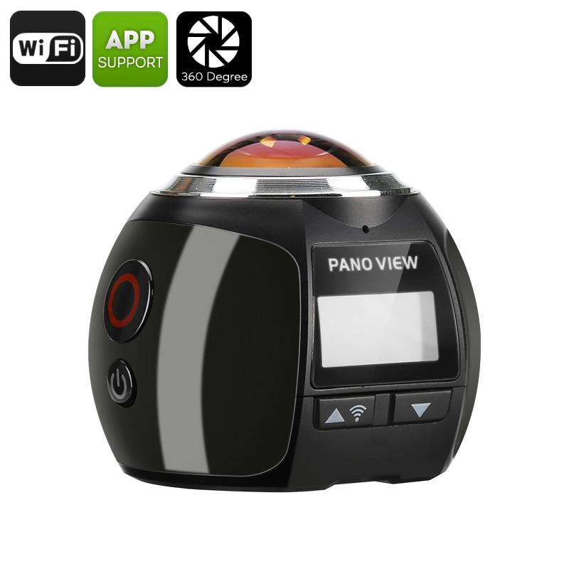 Camera 360 Wifi Gocam Sports FHD 2k Moto Mergulho 60FPS Foto Video Audio Pesca Preto  - HARDFAST INFORMÁTICA