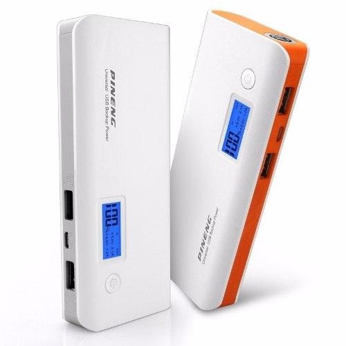 Carregador Portátil 10.000Mah Pineng Original Power Bank Tablet Iphone Ipad Galaxy Gps Go pro Bateria  - HARDFAST INFORMÁTICA