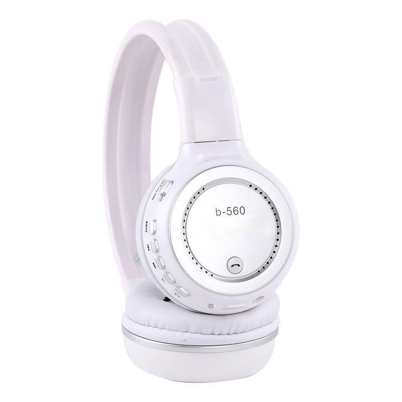 Fone Bluetooth Sem Fio Favix B560 Branco Original Radio Fm Stereo Qualidade Cartão Memória Viva Voz Mp3 Hi - Fi Usb