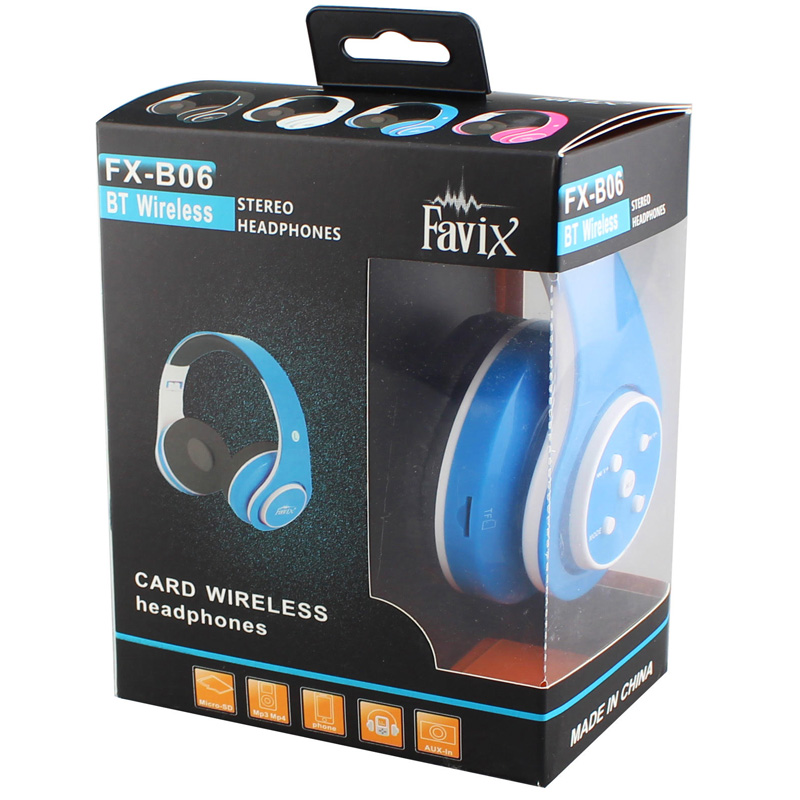 Fone Ouvido Favix B06 Sem Fio Preto Fm Radio Bluetooth Sd TF Stereo Hi-Wi Mega bass Grave  - HARDFAST INFORMÁTICA