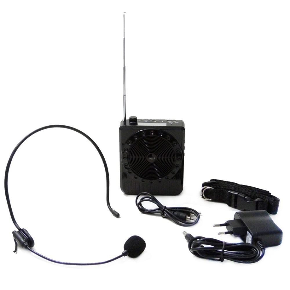 Megafone Amplificador Voz Microfone Professor Radio FM USB MP3 Fone Ouvido k150 Aula Palestra  - HARDFAST INFORMÁTICA