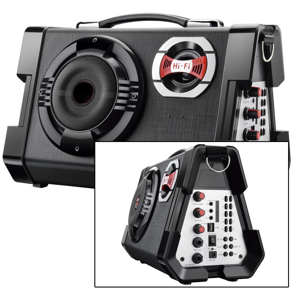 Micro System Mp3 Microfone Karaoke P10 80W Rms P/ Guitarra Caixa de Som o mais forte!  - HARDFAST INFORMÁTICA