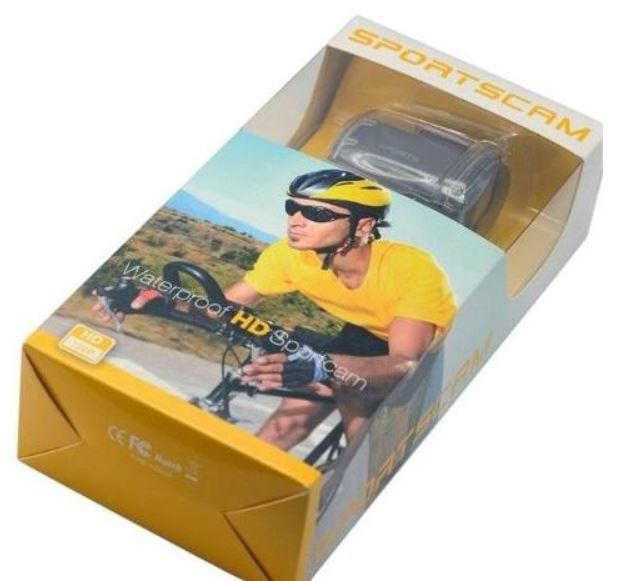 Mini Camera Sport Cam Hd 720p Bike Moto Capacete Prova Agua T182 Video Foto Audio  - HARDFAST INFORMÁTICA