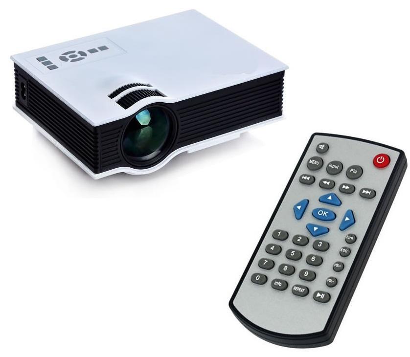Mini Projetor uc40 Hdmi até 130 Polegadas Usb Led 1080p P/ Xbox Play Playstation Net Tv a Cabo HD 800 Lumens  - HARDFAST INFORMÁTICA