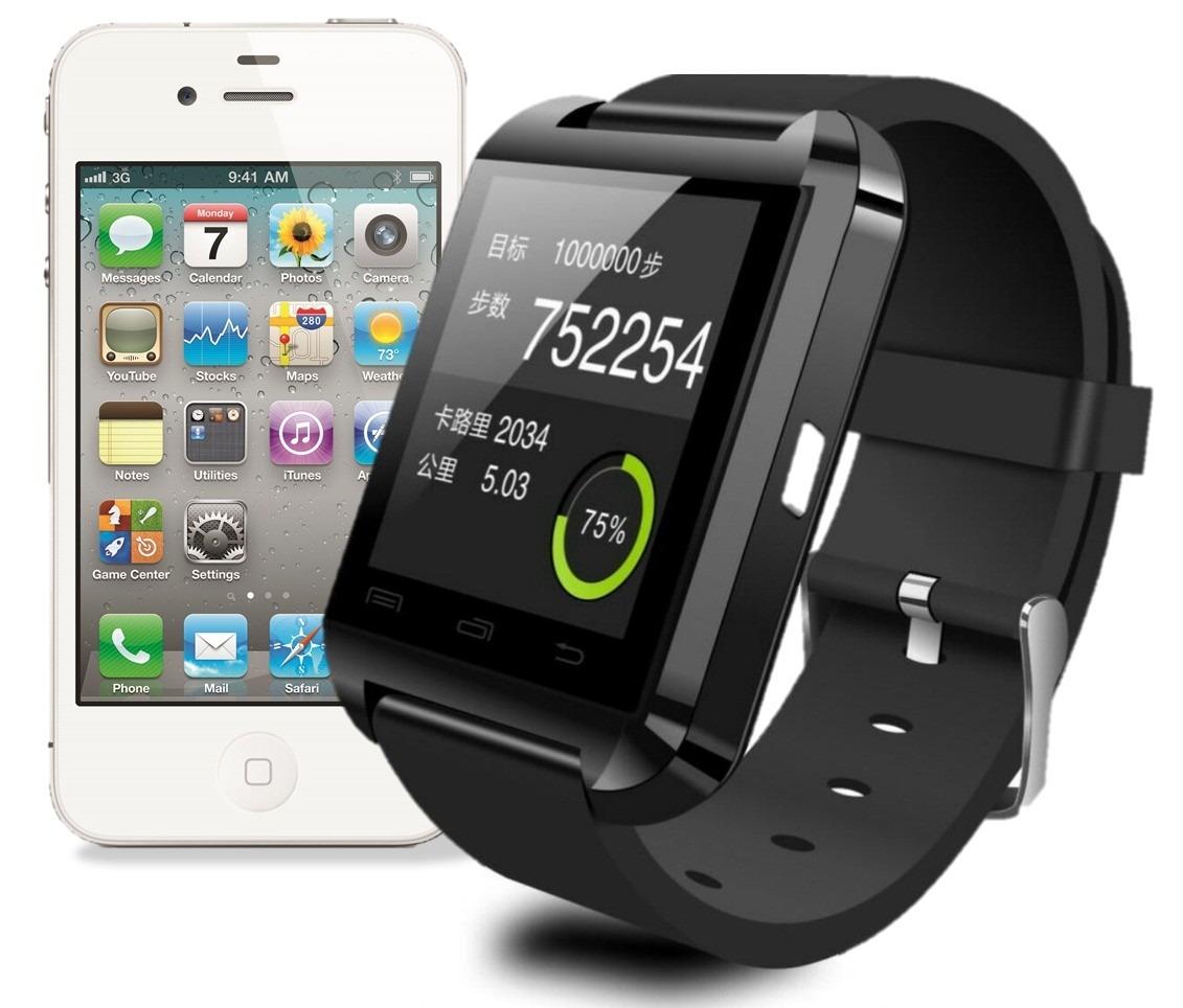 Relogio Bluetooth Smartwatch u8 Compativel Iphone e Android  - HARDFAST INFORMÁTICA
