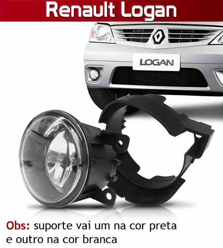 Kit Farol de Milha Neblina Completo Sandero/Megane/Logan C/ Suporte - SONNIC SOUND