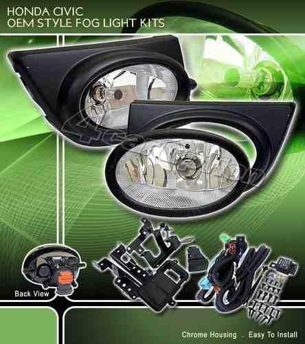 Kit de Farol De Milha Neblina Honda New Civic 06/07/08/ - SONNIC SOUND