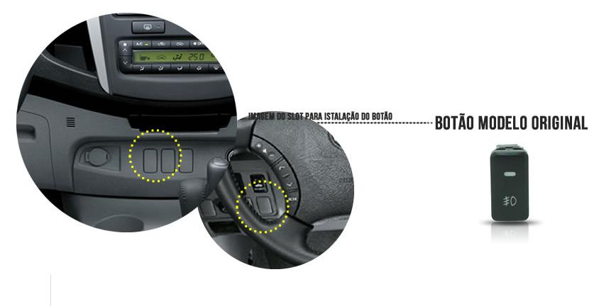 Kit Farol de Milha/Neblina Toyota Hilux 2009/2010/2011 - SONNIC SOUND