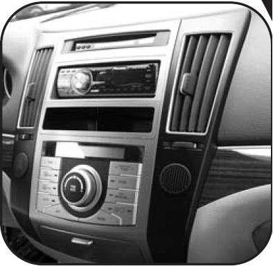 Moldura de Painel Hyundai Veracruz Instalação Dvd 1 Ou 2 Din - SONNIC SOUND