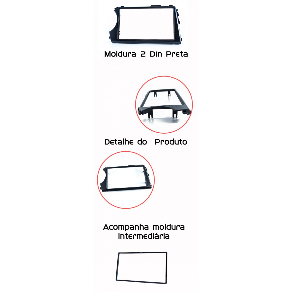 Moldura de Painel Ssangyong Action Sports DVD 2 Din - SONNIC SOUND