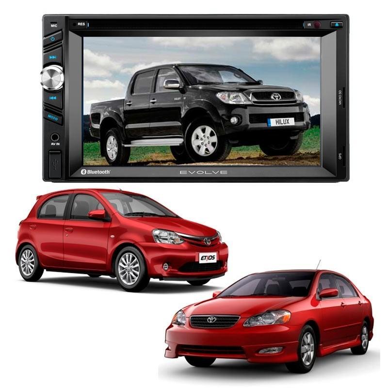 Central Multimidia  EVOLVE Corolla Gli/Toyota Hilux/Sw Corolla 03/08/Etios - SONNIC SOUND