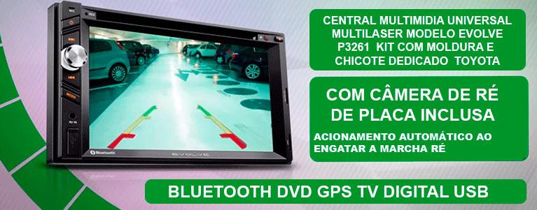 Central Multimidia EVOLVE Toyota Hilux/Sw Corolla 03/08/Etios - SONNIC SOUND