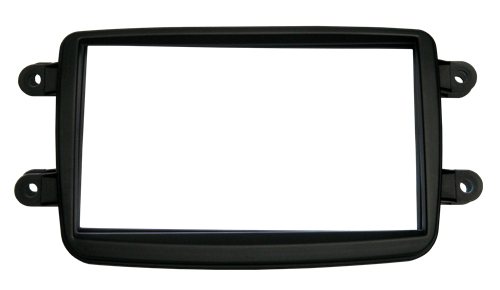 Moldura Painel DVD 2 Din Renault  Sandero/Duster/Logan/Oroch/Captur/Kwid AP550 - SONNIC SOUND