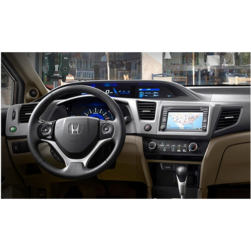 Moldura Painel Dvd 2 din Honda New Civic 2012/2013/2014 Grafite AP760 - SONNIC SOUND