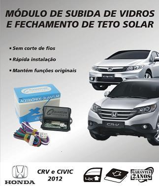 Modulo de subida  de vidros e teto solar Honda Civic 2012/2013 Honda CRV 2012/2013 - SONNIC SOUND