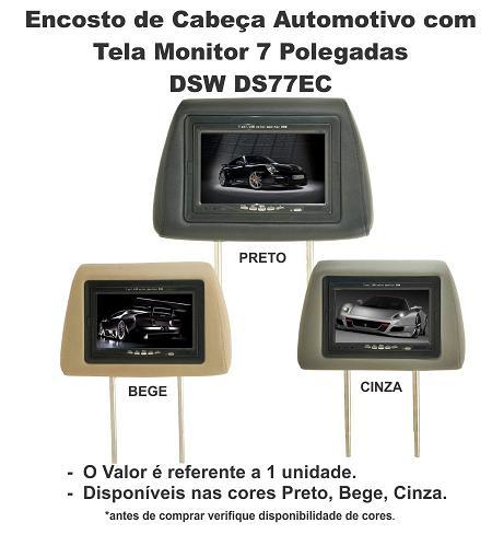 Encosto Cabeça Tela Monitor Lcd 7 Polegadas Controle Remoto - SONNIC SOUND