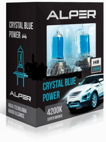 Kit Lampada Alper Crystal Blue Power H8 4200k - SONNIC SOUND