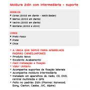 Moldura de Painel Vectra Corsa Meriva Montana  Instalação Dvd 2 Din - SONNIC SOUND