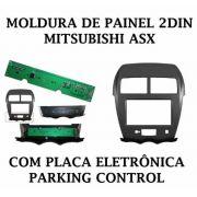 Moldura de Painel Dvd 2 Din Mitsubishi Asx C/ Parking Control - SONNIC SOUND