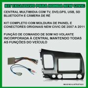 Central Multimidia EVOLVE MULTILASER Honda New Civic 07/11 - SONNIC SOUND
