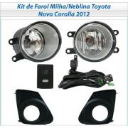 Kit Farol Auxiliar Milha/neblina Toyota Novo Corolla 2012/2013/2014 - SONNIC SOUND